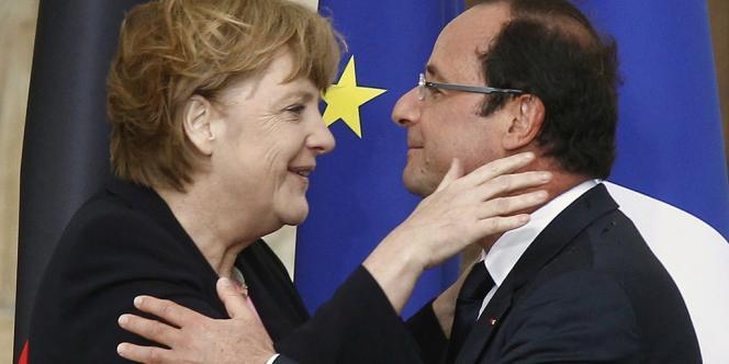 Angela Merkel et François Hollande, à Reims, lors du 50e anniversaire de l'amitié franco-allemande.