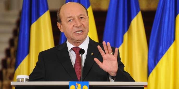 Le président roumain Traian Basescu, le 6 février 2012, à Bucarest.