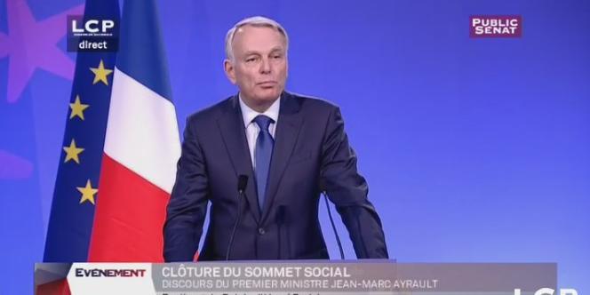 Jean-Marc Ayrault, le 10 juillet 2012 (capture d'écran).