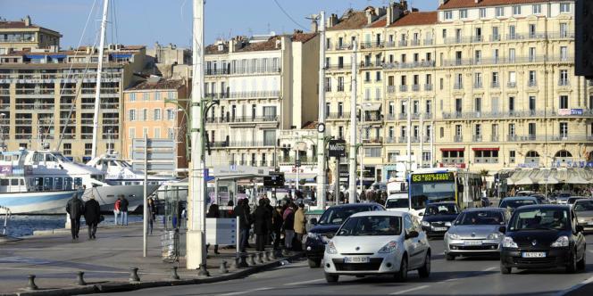 Vue générale du Vieux Port à Marseille, en novembre 2010.