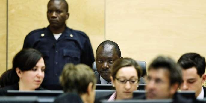 Thomas Lubanga, ancien chef de milice congolais, ici au cours de son procès à La Haye au Pays-Bas, le 10 juillet, a été reconnu coupable de crime de guerre et condamné à 14 ans de prison par la Cour pénale internationale.