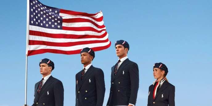 Les tenues officielles de la délégation américaine lors de la cérémonie d'ouverture des JO de Londres.