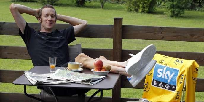 Bradley Wiggins, le 10 juillet lors de la journée de repos.