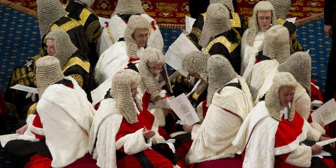 Membres de la Chambre des Lords, le 9 mai 2012 à Londres.