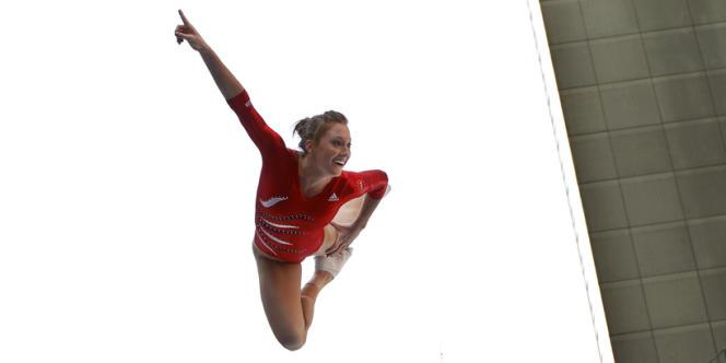 La gymnaste américaine Alaina Williams, le 18 avril à New York.