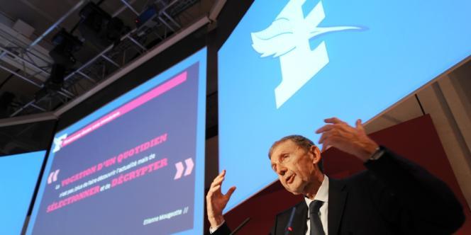 Etienne Mougeotte, le 18 septembre 2009.