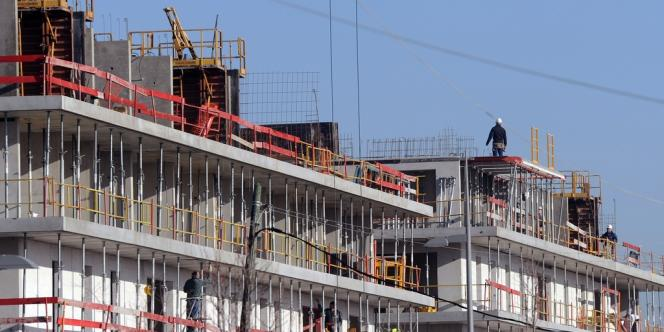 Un chantier de construction à Toulouse, en janvier 2012.