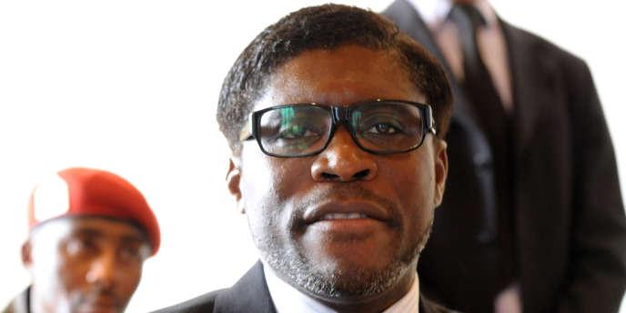 Le fils du président de Guinée équatoriale Teodoro Nguema Obiang, le 24 janvier 2012.
