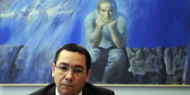 Le premier ministre roumain Victor Ponta après la réunion au siège de la Commission européenne à Bruxelles, le 12 juillet.