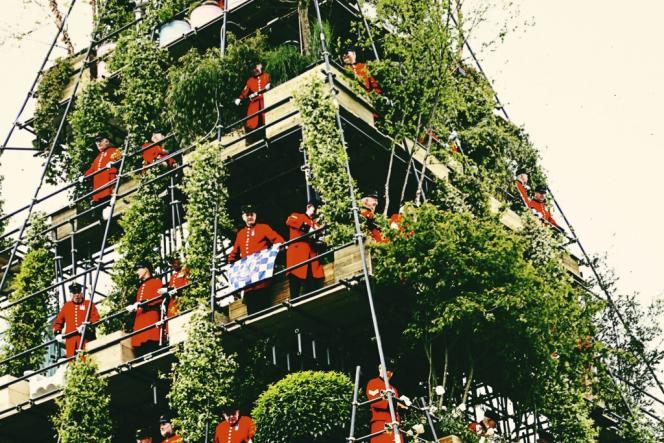 Un jardin à la verticale du Chelsea Flower Show, salon horticole qui ouvre en mai la saison des mondanités.