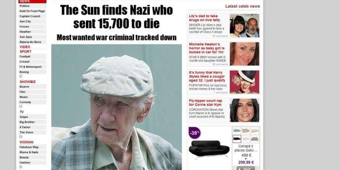 L'article du tabloïd britannique