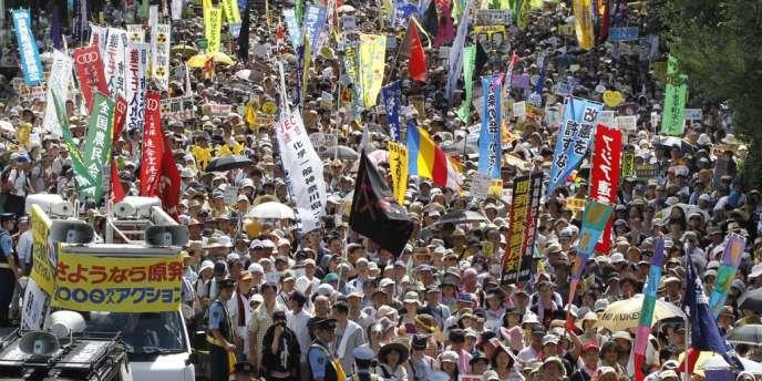 Manifestation contre le nucléaire à Tokyo, le 16 juillet à Tokyo.