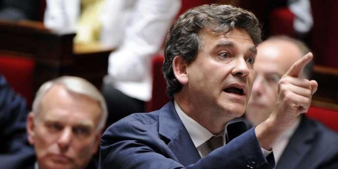 Arnaud Montebourg lors des questions au gouvernement à l'Assemblée, le 17 juillet 2012.