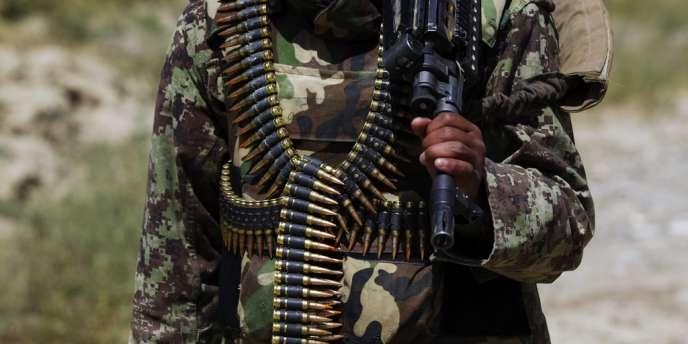 Un membre des forces de l'ordre afghanes dans la province de Paktiya, le 12 juillet 2012.