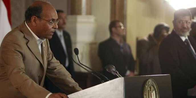 Moncef Marzouki, le président tunisien, ici au Caire, le 13 juillet, se rend à Paris le 17 juillet.