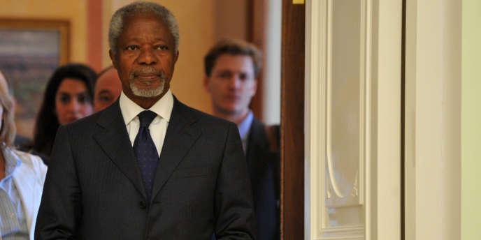 Kofi Annan a annoncé qu'il quittera son poste de médiateur de l'ONU pour la Syrie le 31 août.