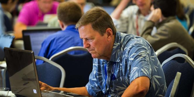 A la conférence Wikimania, à Washington, le 10 juillet.