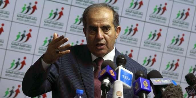 Mahmoud Djibril, leader le l'Alliance des forces nationales, le 8 juillet à Tripoli.