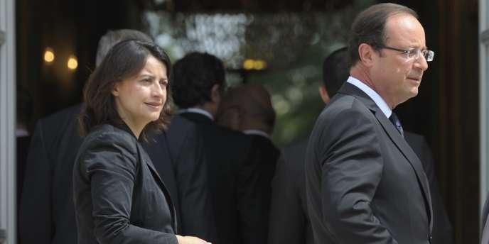 Cécile Duflot et François Hollande, le 4 juillet à l'Elysée.