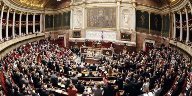 L'Hémicycle de l'Assemblée nationale, le 17 juillet 2012.