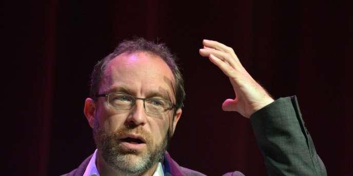 Le fondateur de Wikipédia, Jimmy Wales, le 12 juillet 2012, à la conférence