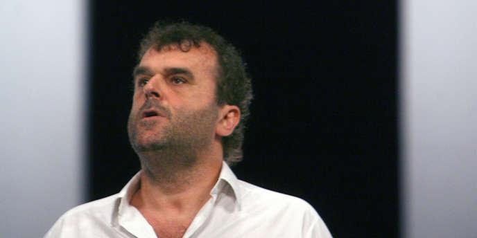 Pippo Delbono sur scène au Theatre du Rond Point in Paris en janvier 2008.