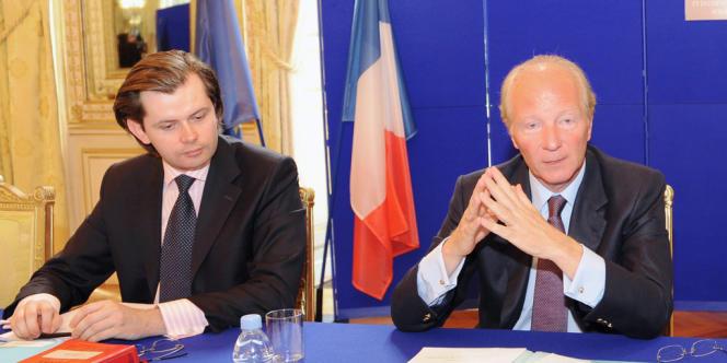 Guillaume Larrivé, à l'époque directeur-adjoint du cabinet du ministre de l'immigration, Brice Hortefeux, en août 2008.