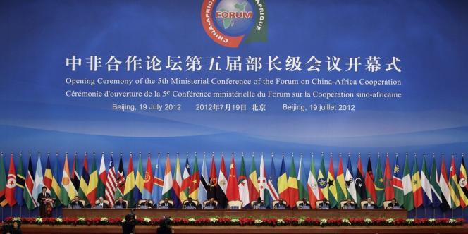 Cérémonie d'ouverture de la cinquième conférence ministérielle Chine-Afrique à Pékin, le 19 juillet 2012.