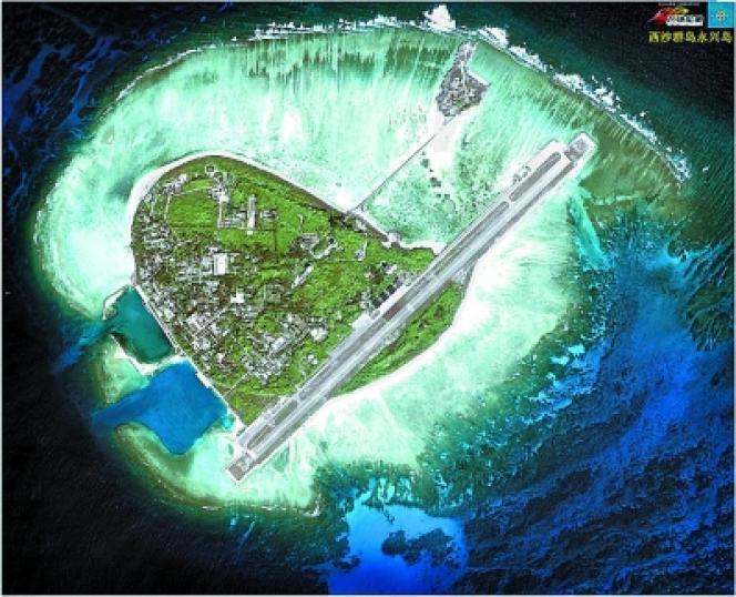 L'île de Yongxing vue du ciel