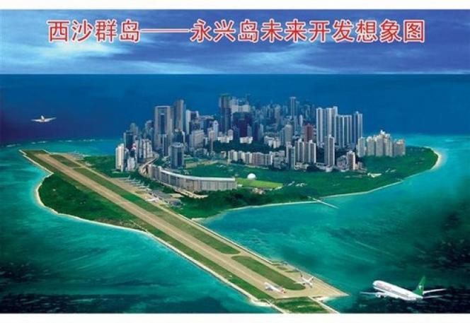 Photomontage de l'île aménagée.