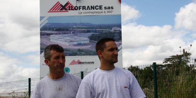 Jean-René Ledan, représentant CGT, et Sébastien Vecchiarelli, délégué syndical CFTC.