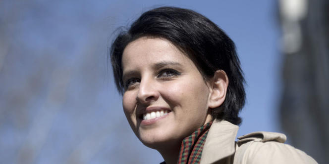 Najat Vallaud-Belkacem, nouvelle ministre de l'éducation nationale.