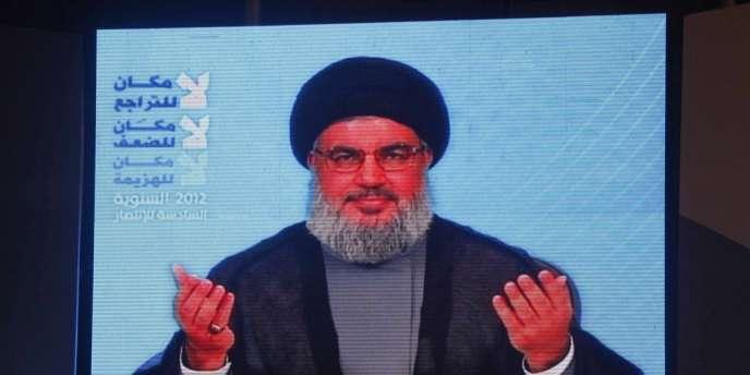 Le chef du Hezbollah Hassan Nasrallah s'exprime dans une vidéo le 18 juillet 2012.