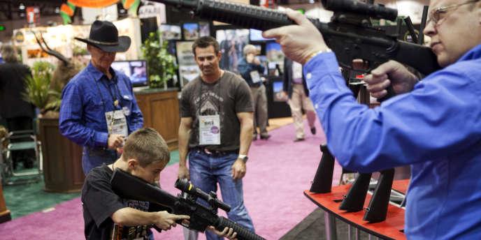 Un salon d'armes à feu dans le Nevada, en janvier 2011.