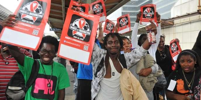 Une marche pour la lutte contre la maladie s'est déroulée samedi à Washington, la veille de l'ouverture de la Conférence internationale sur le sida.
