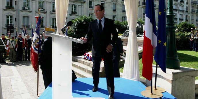 Commémoration de la rafle du vélodrome d'hiver par le chef de l'Etat François Hollande, dimanche 22 juillet à Paris.