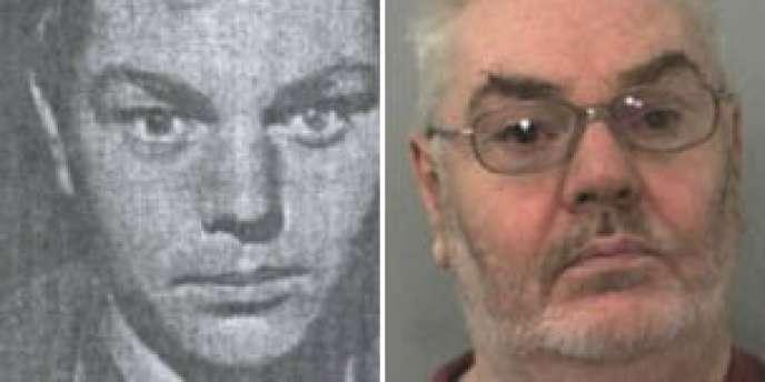 A gauche, David Burgess dans les années 1960. A droite, le meurtrier aujourd'hui, âgé de 64 ans.