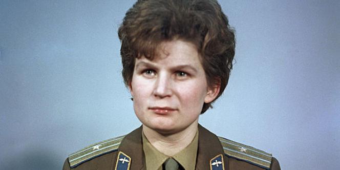 Valentina Tereshkova, première femme cosmonaute à l'âge de 26 ans, héroïne de l'Union soviétique.