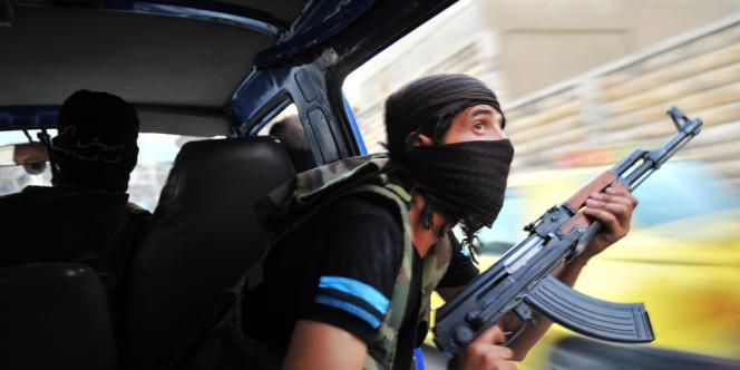 Dans la banlieue d'Alep, le 23 juillet.