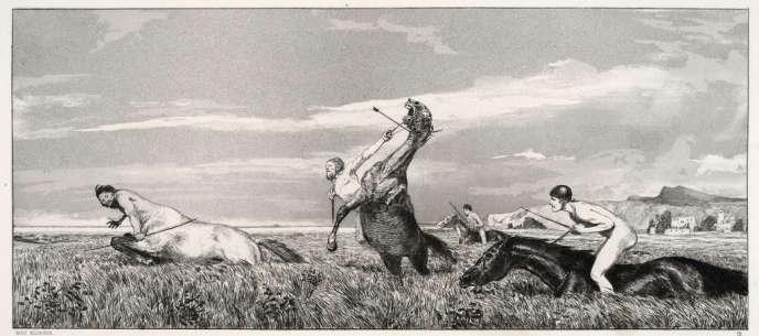 Max Klinger, Opus IV, Intermezzi , 1881. Planche 3.