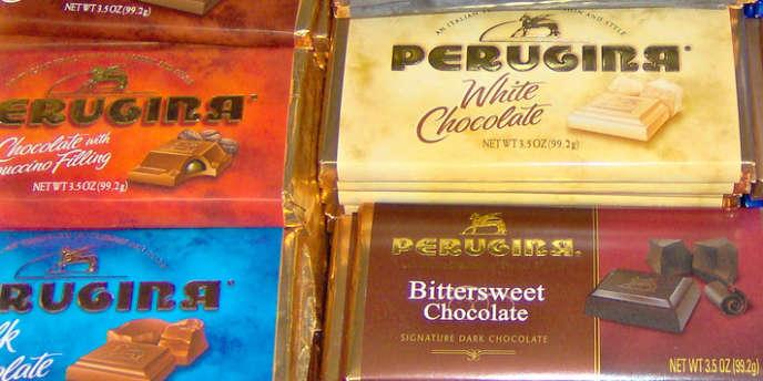 Des plaquettes de chocolat produites par l'entreprise Perugina.