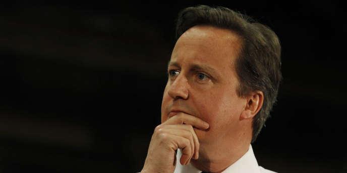 Le premier ministre britannique, David Cameron, le 26 juillet lors d'une grande réunion d'investisseurs visant à promouvoir le Royaume-Uni.
