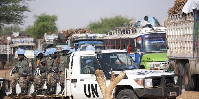 L'union africaine -ONU au Darfour, le 14 juillet 2011.