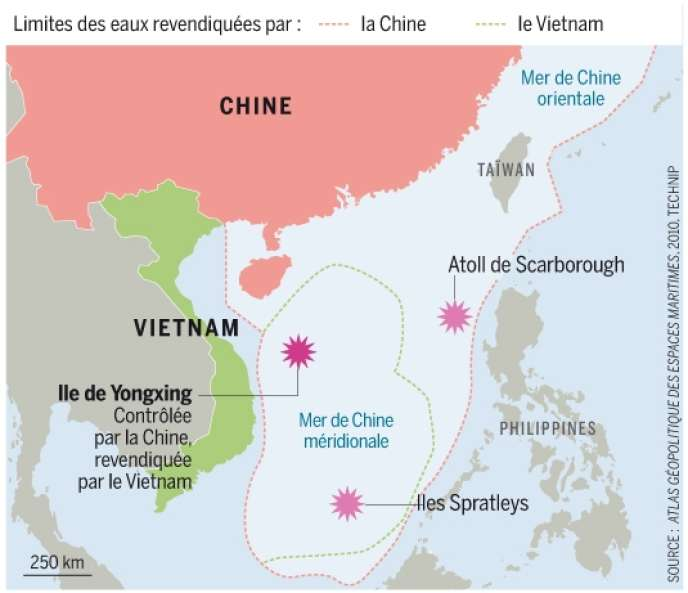 Carte Chine Philippines.Les Ambitions De Pekin En Mer De Chine Meridionale