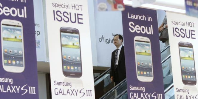 Des affiches du Galaxy S3, de Samsung, à Séoul.