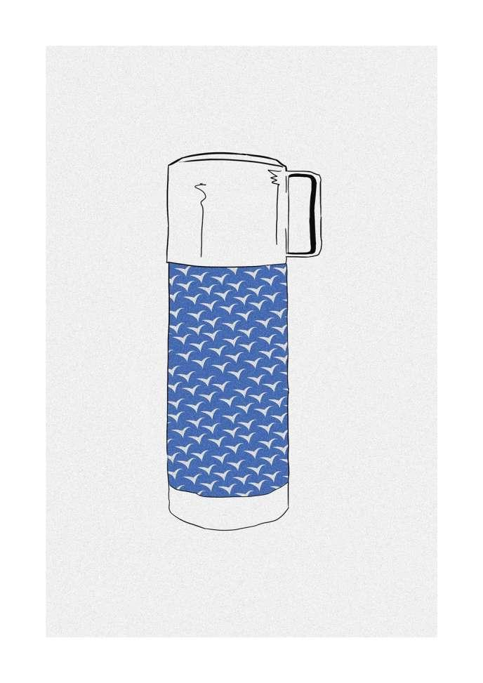 Depuis la naissance des congés payés, la bouteille isotherme fait partie du tableau estival.