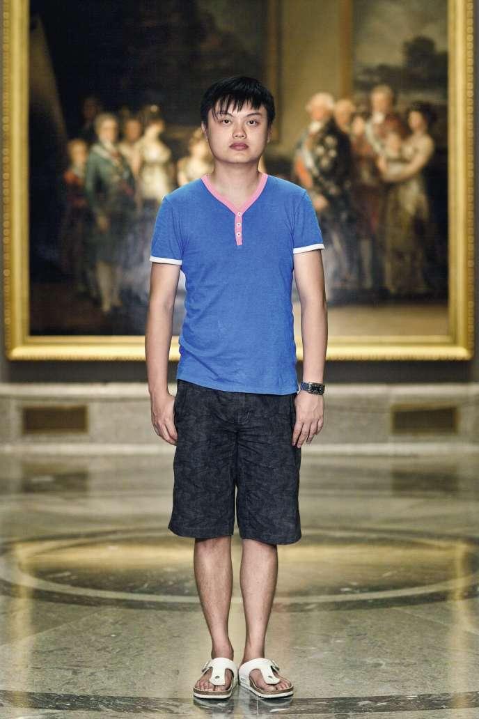Un visiteur du musée du Prado.