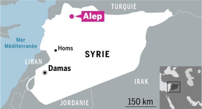 Carte de situation de Syrie.