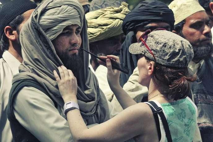 Le 17 mars à Chandigarh, au nord de l'Inde, sur le tournage du film de Kathryn Bigelow.
