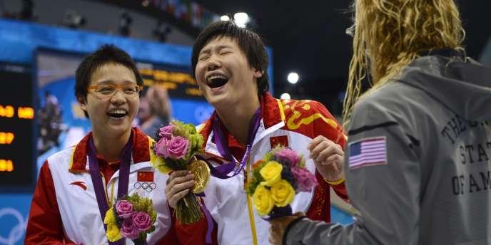 Les nageuses chinoises ont brillé lors de la première journée des épreuves de natation.